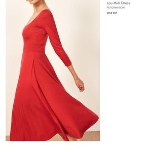 Reformation Red Dress XS